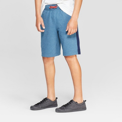 Boys' Striped Down Knit Pull-On Shorts with Pockets - Cat & Jack™ - image 1 of 3