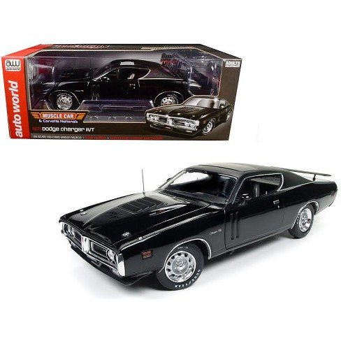 1971 Dodge Charger R/T TX9 Black on Black Hardtop with Sunroof MCACN Ltd Ed to 1002pc 1/18 Diecast Model Car Autoworld - image 1 of 4