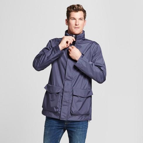 Men's Rain Jacket  - Goodfellow & Co™ Geneva Blue - image 1 of 3