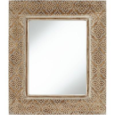 "Noble Park Georgina Wood 29 1/2"" x 34 1/2"" Rectangular Wall Mirror"