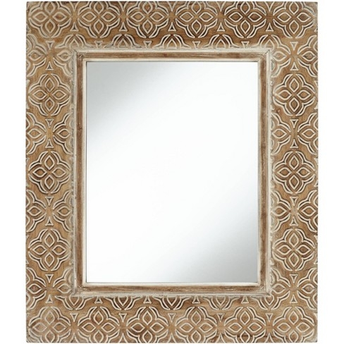 Noble Park Georgina Wood 29 1 2 X 34, Carved Wood Mirror Target