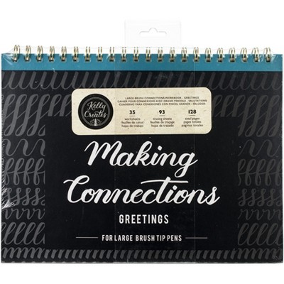 """Kelly Creates Large Brush Workbook 11.6""""X10"""" 128/Pkg-Connections/Greetings"""