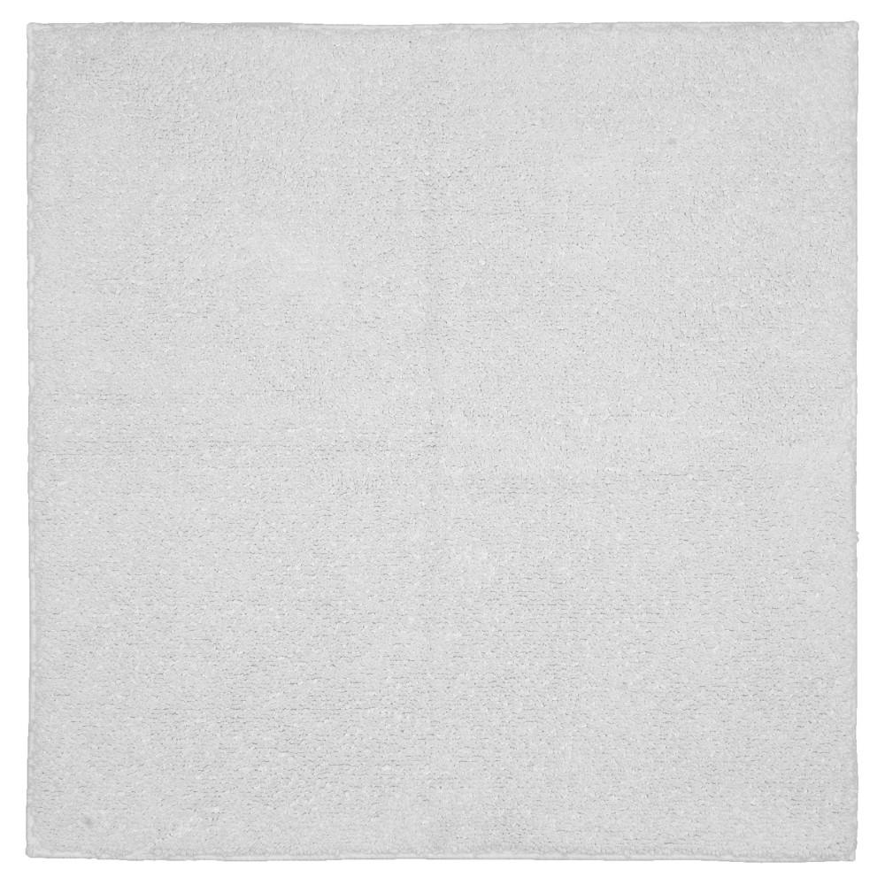Queen Cotton Oversized Bath Rug - White - (36