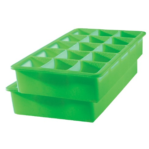 Tovolo Perfect Cube Silicone Ice Cube Trays 2 Pk Green Target