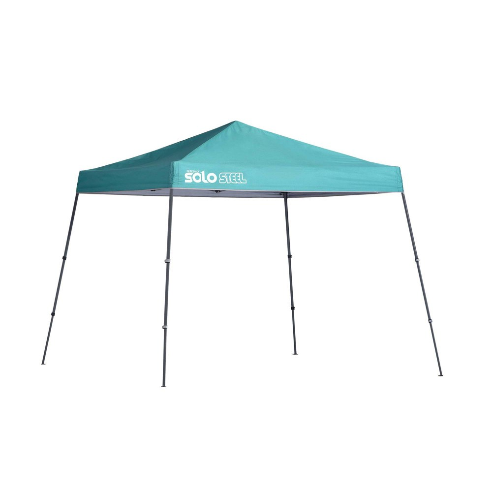 Quik Shade Solo Steel 10x10 Slant Leg Canopy - Turquoise