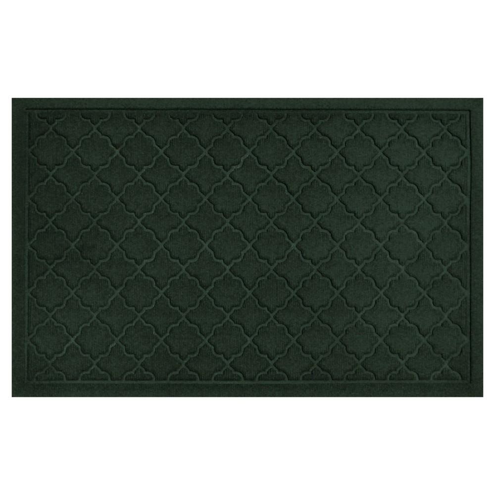 Evergreen (Green) Solid Doormat - (2'X3') - Bungalow Flooring