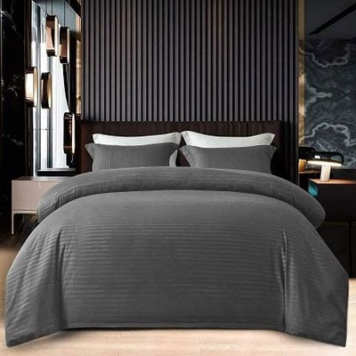 Jacler 3 Piece Duvet Cover Set 1800 Thread Count Soft Brushed Microfiber with Zipper Closure