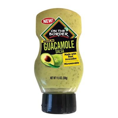 On The  Border Guacamole Salsa Squeeze Bottle - 11.5oz