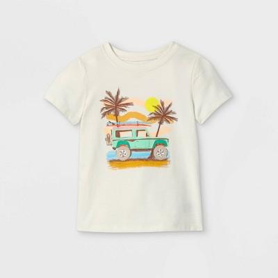 Toddler Boys' Summer Surf Graphic Short Sleeve T-Shirt - Cat & Jack™ Cream