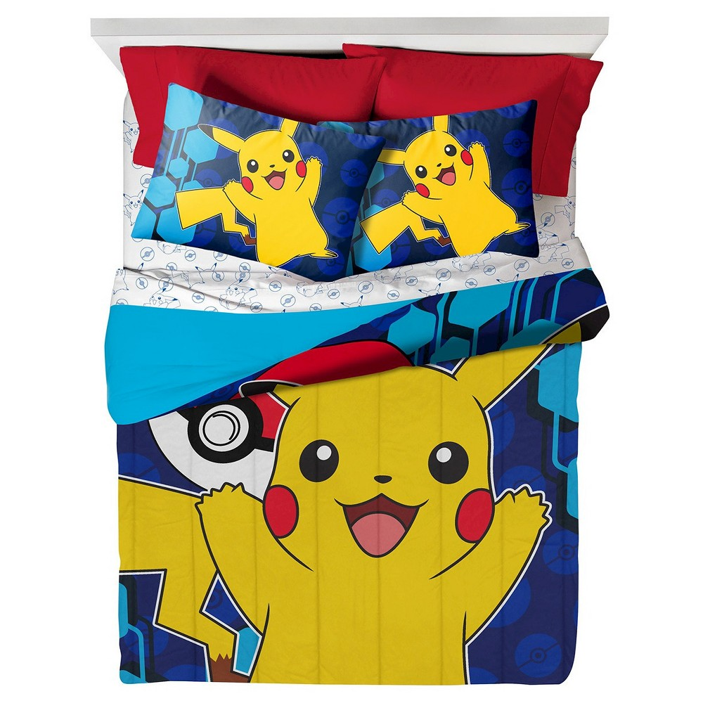 Pokémon Pikachu Yellow & Blue Comforter (Full), Multi-Colored