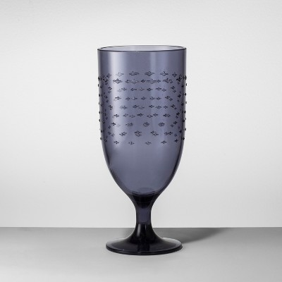 Plastic Goblet 18oz Blue - Opalhouse™