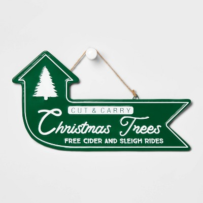 Cut & Carry Christmas Trees Decorative Sign - Wondershop™