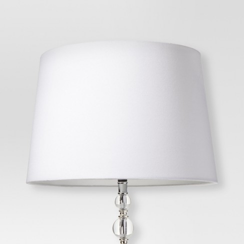 Linen Drum Lamp Shade White - Threshold™ - image 1 of 3