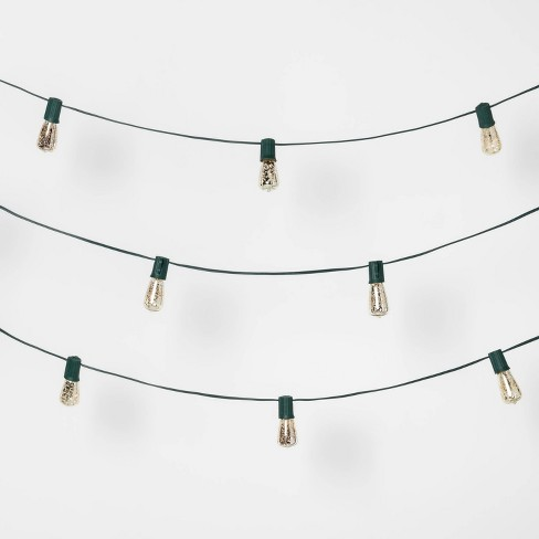 20ct Christmas Incandescent Mini Vintage Bulb Mercury String Lights Silver - Wondershop™ - image 1 of 2