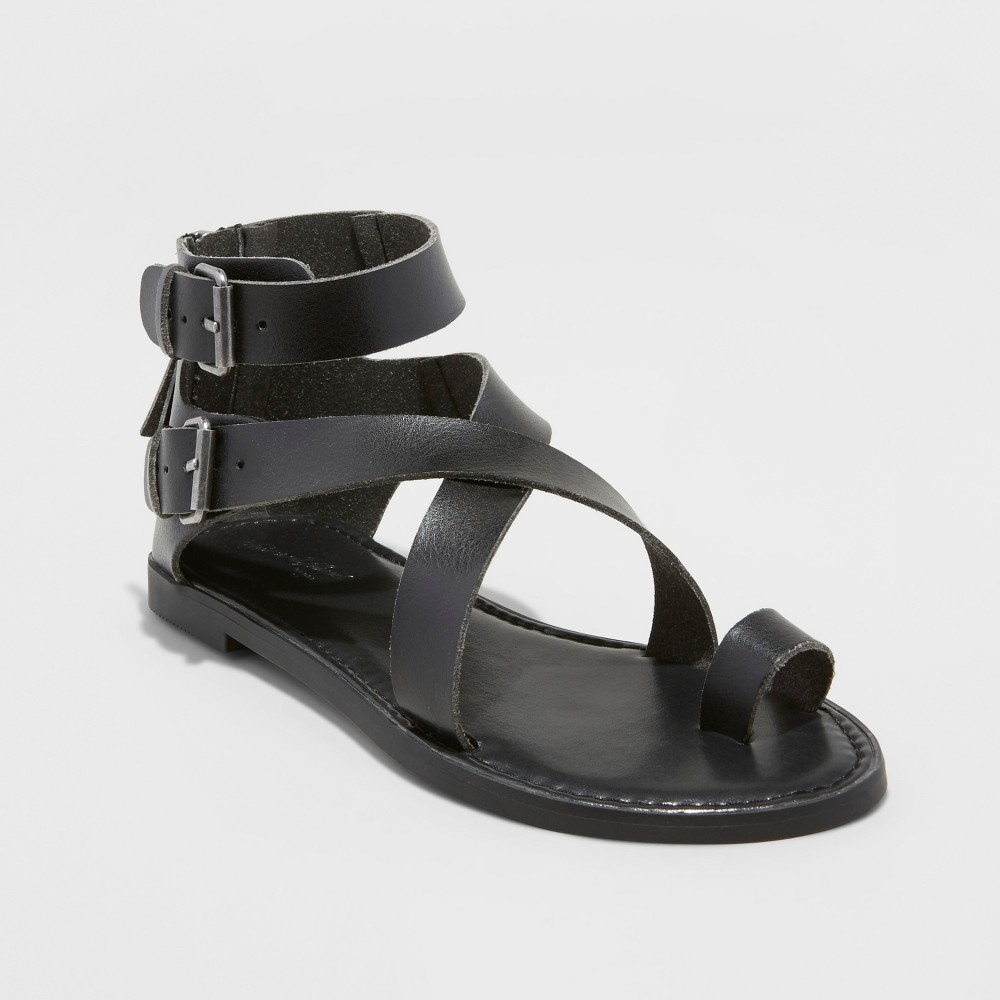 Women's Maribella Toe Wrap Gladiator Sandal - Universal Thread Black 6