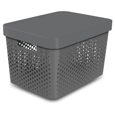 Storage Large Bin- Perforated Gray - Room Essentials™