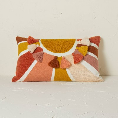 Embroidered Sun Lumbar Throw Pillow - Opalhouse™ designed with Jungalow™