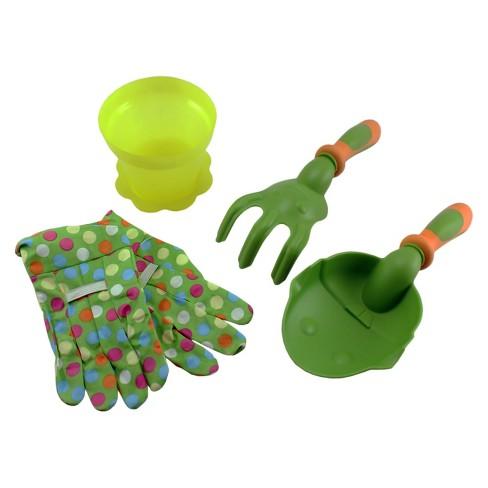 4pc Kids Gardening Bag Of Garden Tools - Green - Ray Padula : Target