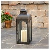 "Smart Living Moreno 17"" LED Candle Outdoor Lantern - Black - image 4 of 4"