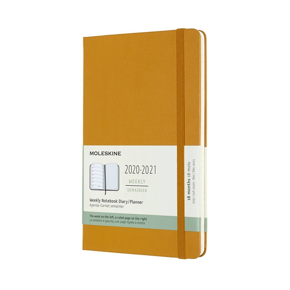 "Image of ""2020-21 Academic 18M Planner 5"""" x 8"""" Weekly Large HC Ripe Yellow - Moleskine"""