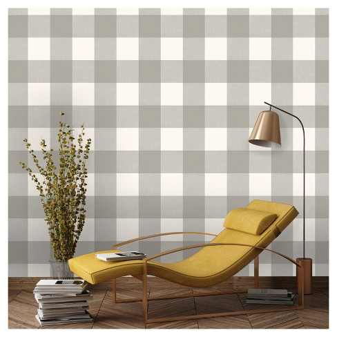 Devine Color Buffalo Plaid Peel & Stick Wallpaper -Mirage and Lightning - image 1 of 6