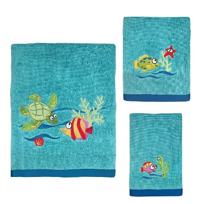 3pc Fish Tails Towel Set - Allure Home Creation
