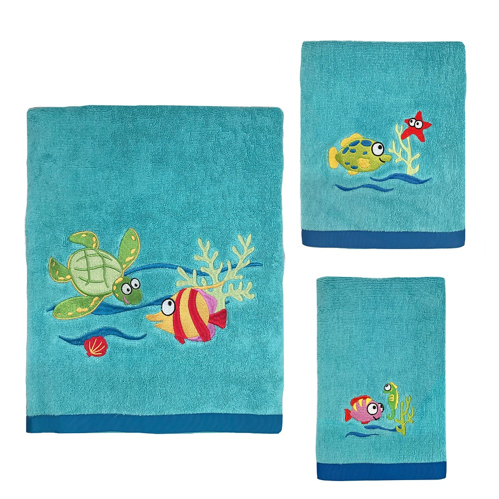 Image of 3pc Fish Tails Towel Set - Allure Home Creation, Blue