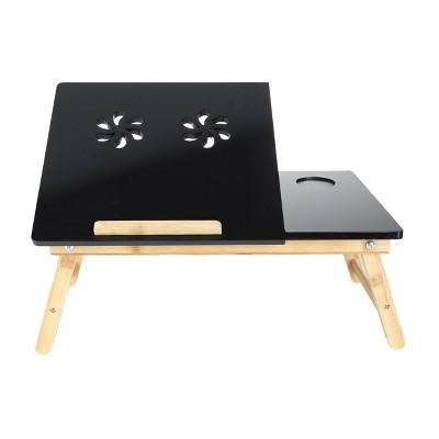 Coolpad Flip Top Adjustable Laptop Desk for Bed Tray Black - Mind Reader