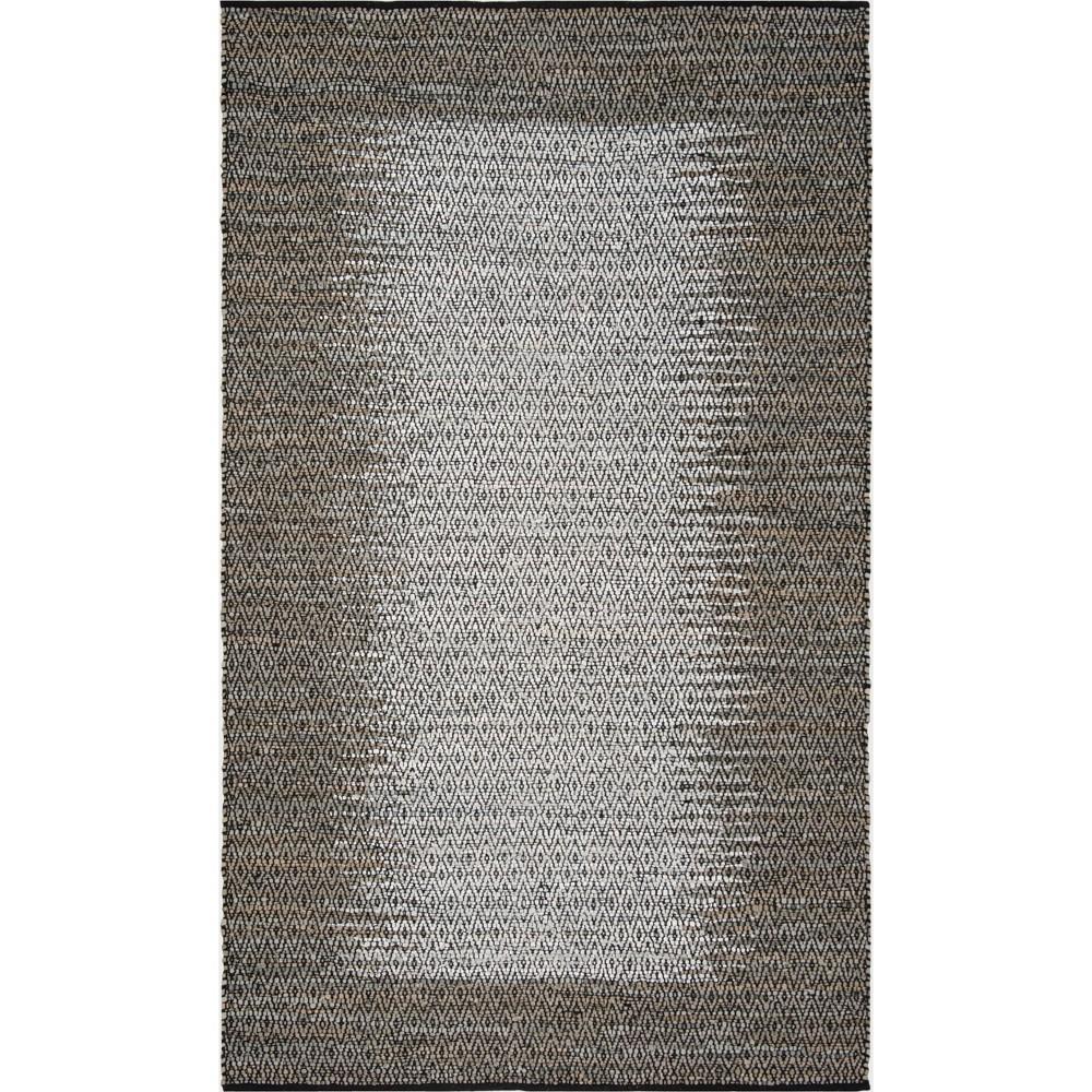 6'X9' Geometric Woven Area Rug Gray - Safavieh