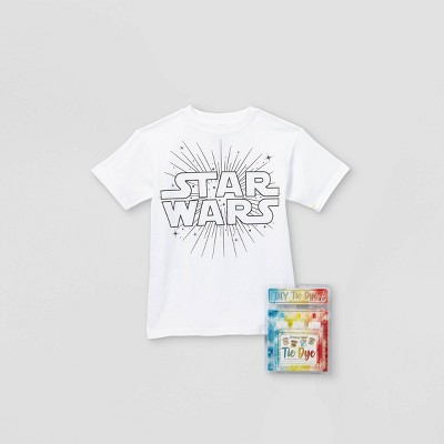 Kids' Star Wars Short Sleeve Graphic T-Shirt with Tie-Dye Kit - White
