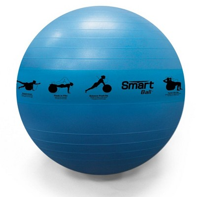 Prism Fitness 75cm Smart Self-Guided Stability Exercise Medicine Ball for Yoga, Pilates, and Office Ball Chair, Blue