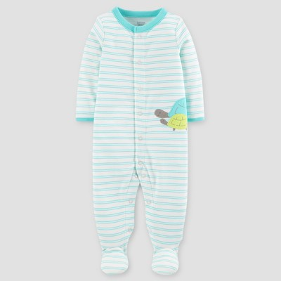 Baby Cotton Striped Turtle Sleep N' Play - Just One You™ Made by Carter's® Green Newborn