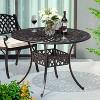 Cast Aluminum Round Dining Table - Nuu Garden - image 3 of 4