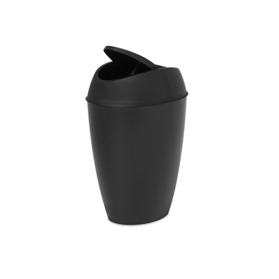 Umbra 2.2gal Twirla Indoor Trash Can Black
