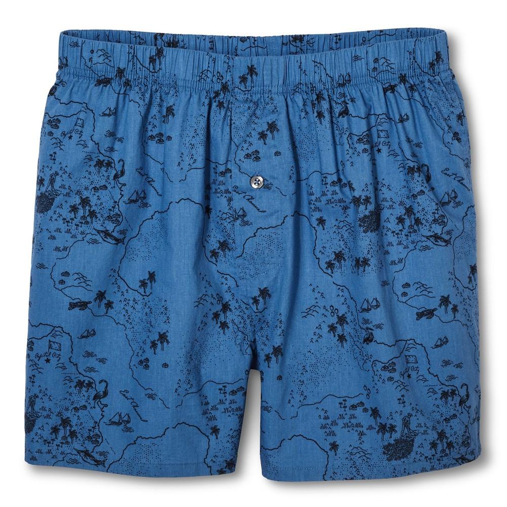 Men's Boxer Shorts - Merona Banner Blue XL