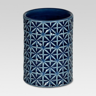 Glazed Geo Tumbler Blue - Threshold™