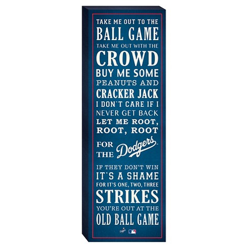 """Los Angeles Dodgers """"Take Me Out To The Ballgame"""" Canvas - image 1 of 1"""