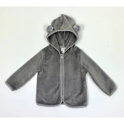 Baby Bear Fleece Zip-Up Hoodie Jacket - Cat & Jack™ Gray 0-3M