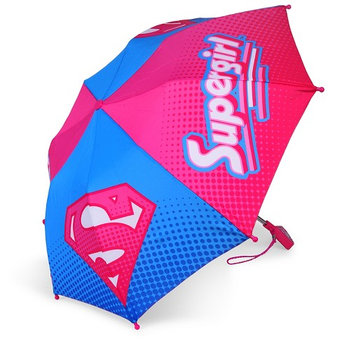 Justice League Compact Umbrella Solid Multi-colored - image 1 of 1