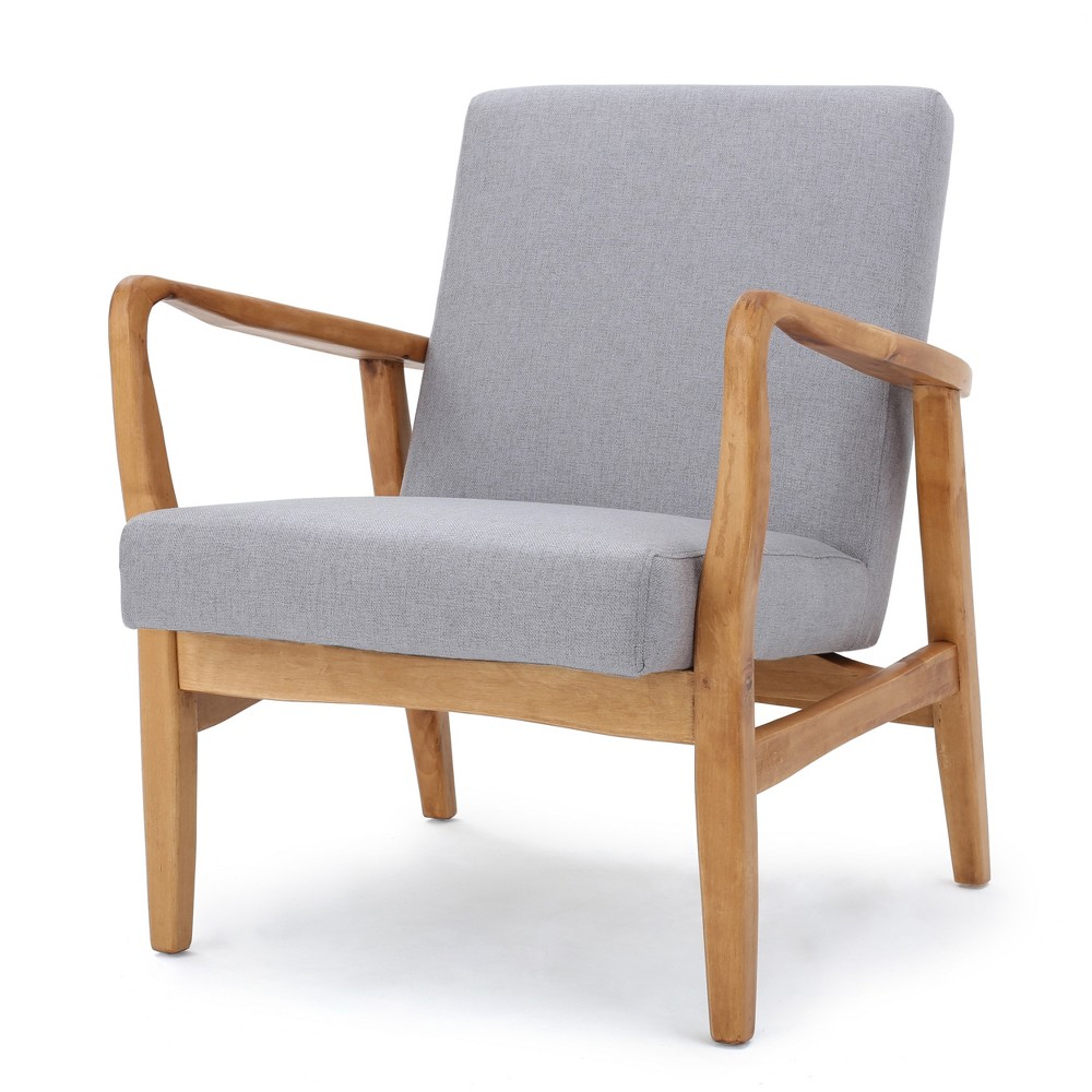 Perseus Club Chair Light Gray - Christopher Knight Home