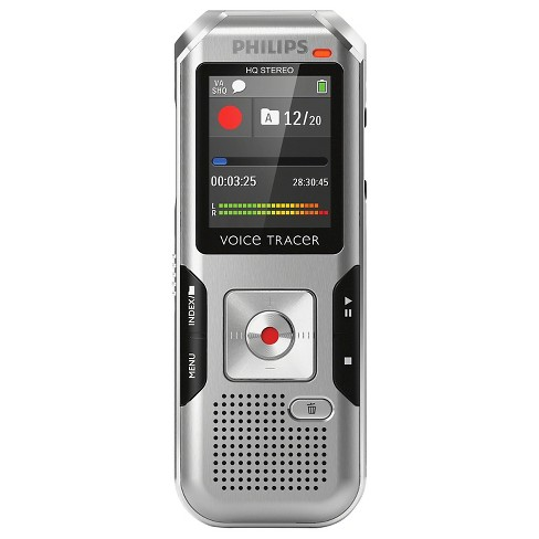 Philip Voice Tracer 4000 Digital Voice Recorder with 4GB Internal Memory - Silver/Black (DVT400000) - image 1 of 1