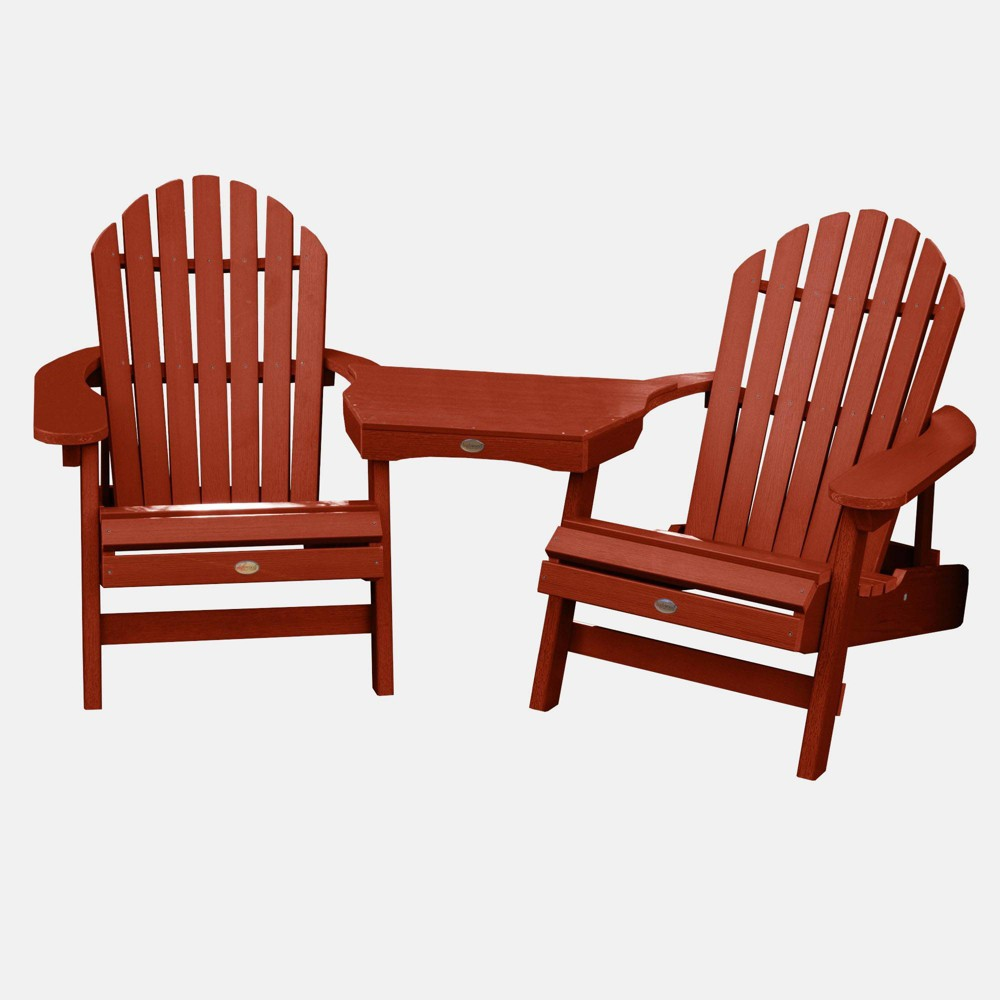 Image of 3pc Hamilton Deck Patio Set Rustic Red - highwood