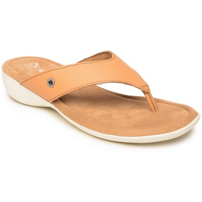 Minnetonka Women's Leather Sienna Thong Sandals