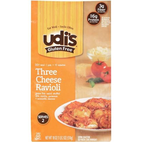 Udi's Gluten Free Three Cheese Frozen Ravioli - 18oz - image 1 of 3