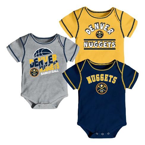 NBA Denver Nuggets Boys' Rookie 3pk Body Suit Set - image 1 of 4