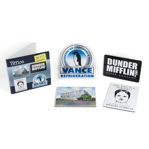 Just Funky The Office Fridge Magnet Set 4pcs Cool 4x3 Inches Flat Refrigerator Magnets Target