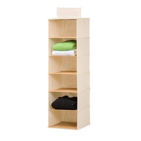 Honey-Can-Do 6 Shelf Hanging Bamboo Organizer - image 1 of 4