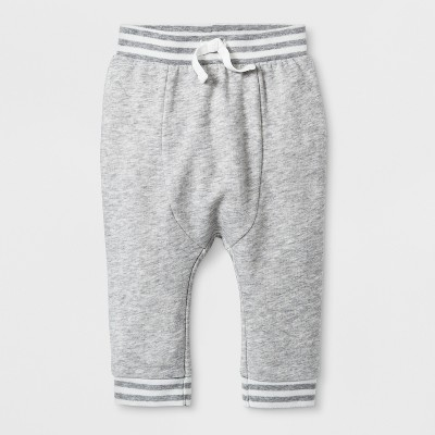 Baby Boys' French Terry Jogger Pants - Cat & Jack™ Gray 3-6M