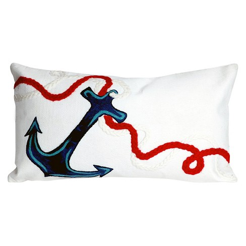 White Throw Pillow - Liora Manne - image 1 of 1