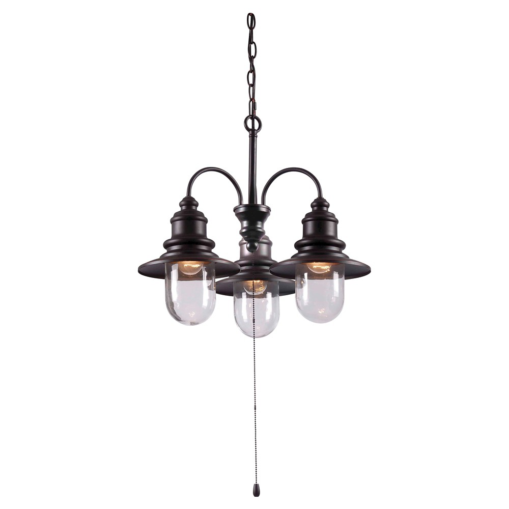 Image of Outdoor Pendant Light Kenroy Bronze Metal